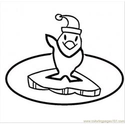Penguins Says Hi Free Coloring Page for Kids