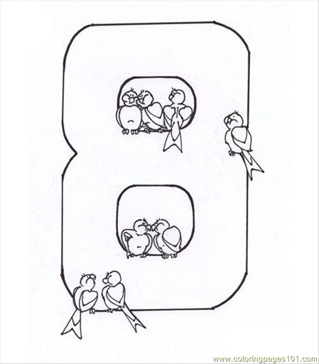 Number Eight 8 Coloring Page Coloring Page