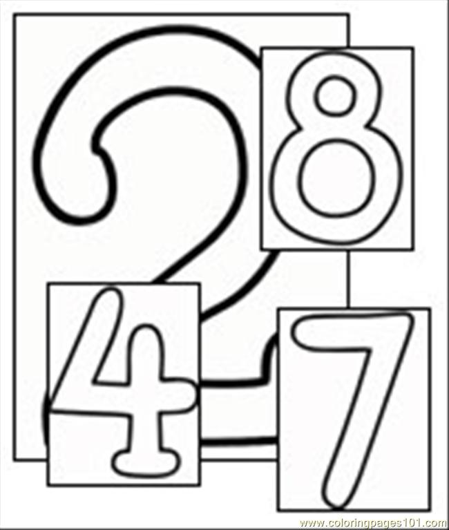 Number Coloring Pages Coloring Page