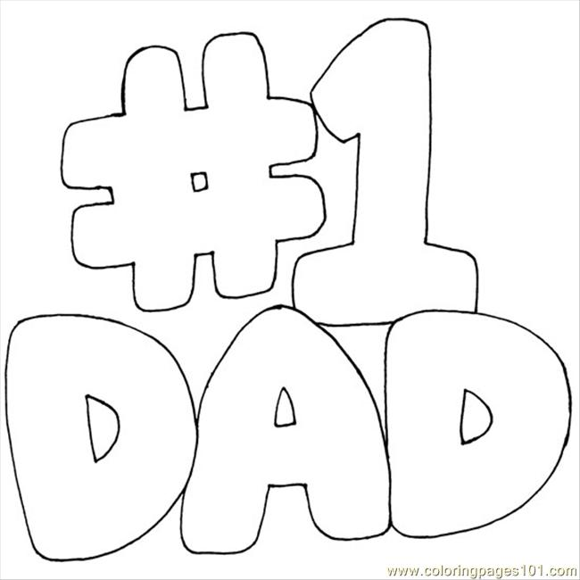 numberonedad coloring page - Dad Coloring Pages