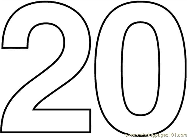 Numbers20 Coloring Page