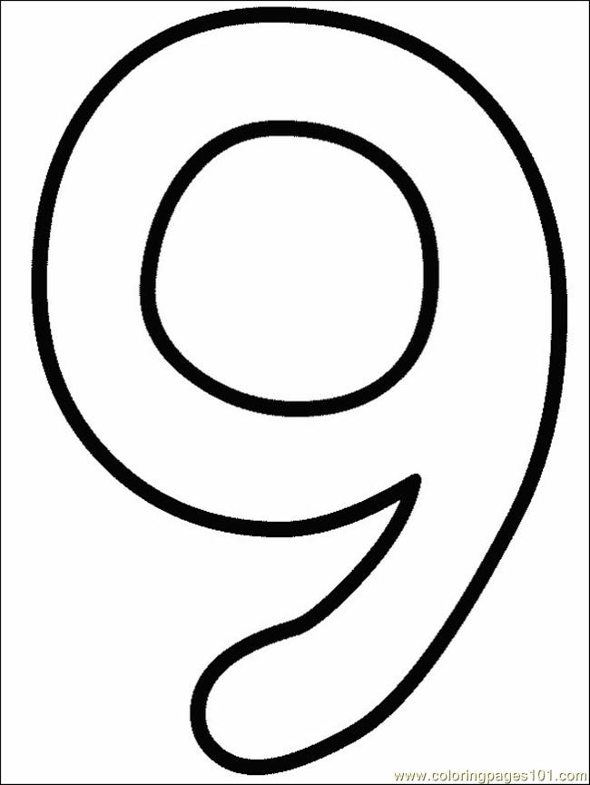 number 9 coloring pages. Numbers 9 Coloring Page  Free Pages