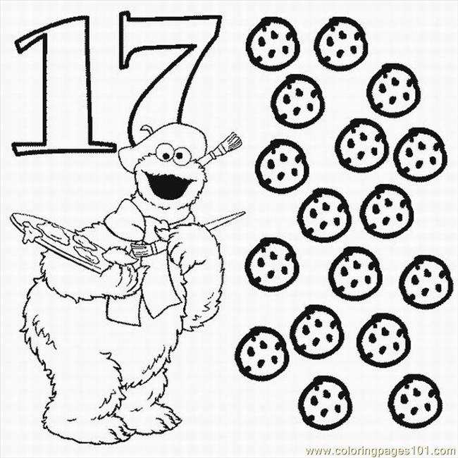 Numbers Coloring Pages 17 Lrg Coloring Page