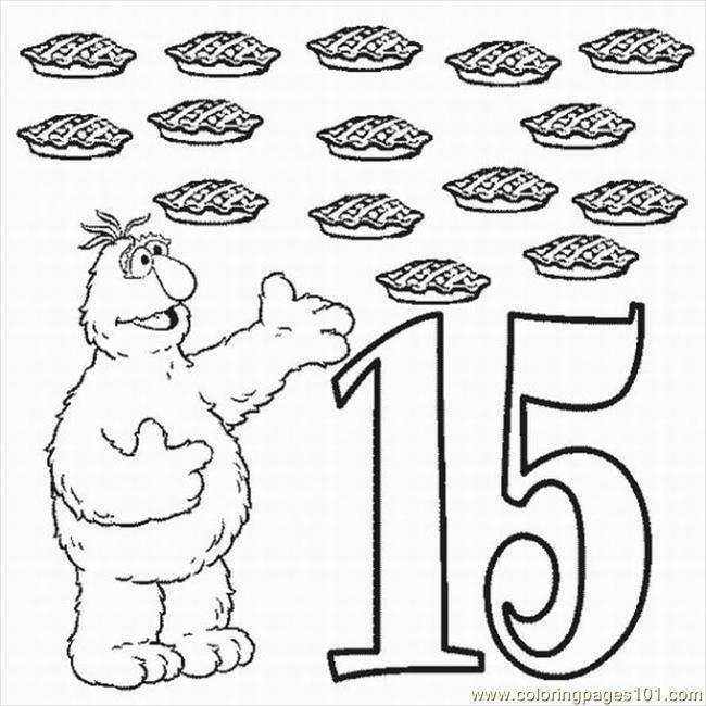 Numbers Coloring Pages 5 Lrg Coloring Page
