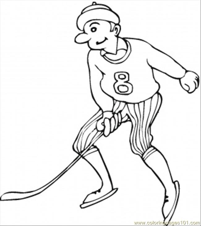 Player Number 8 Coloring Page Coloring Page