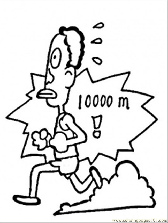Run 1000 Meters Coloring Page
