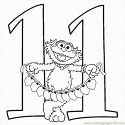 Numbers Coloring Pages 11 Lrg
