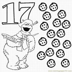 Numbers Coloring Pages 17 Lrg