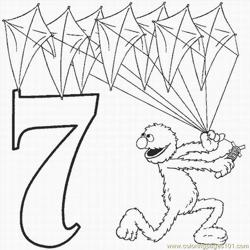 Numbers Coloring Pages 7 Lrg