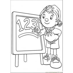 Y Teachs Number Coloring Page