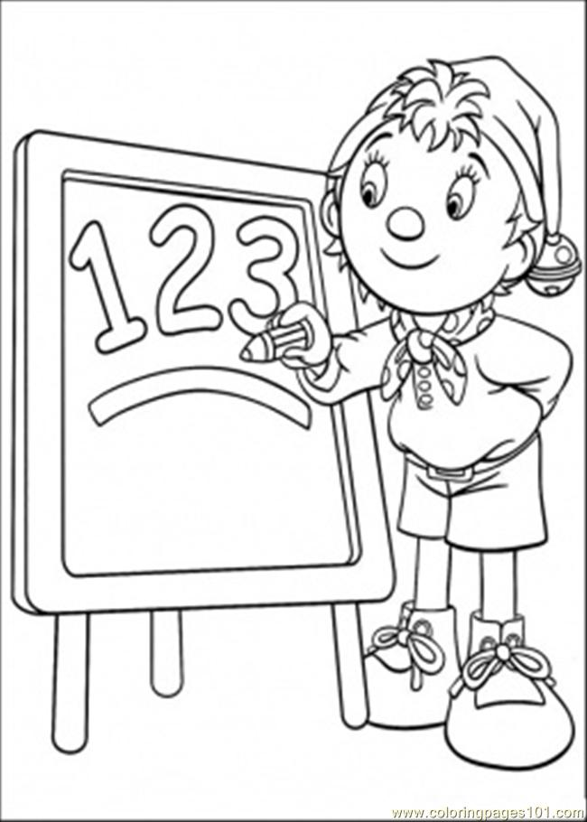 Y Teachs Number Coloring Page Coloring Page