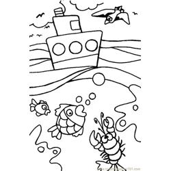 Ocean Free Coloring Page for Kids