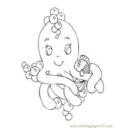 Sealife Octopus Fish Free Coloring Page for Kids