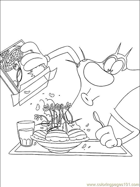 Oggy Cockroaches 003 (11) Coloring Page