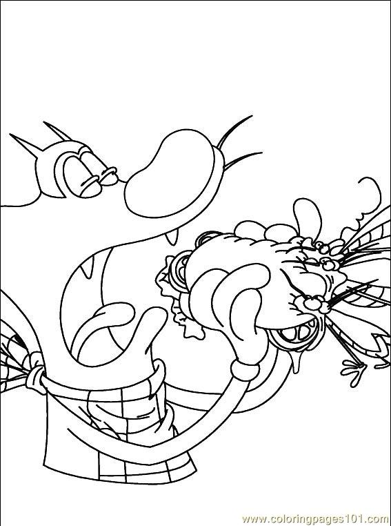 oggy and the cockroaches coloring pages online - photo #9