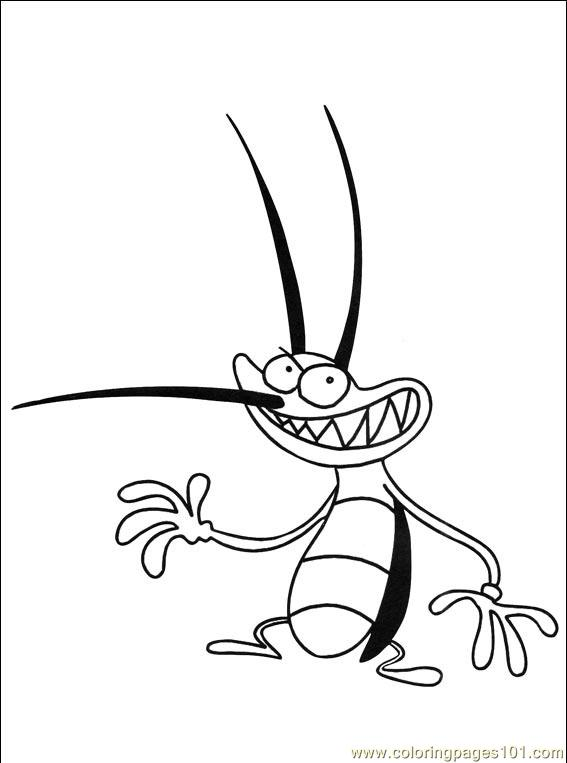 cockroach coloring page - oggy cockroaches 034 coloring page free oggy and the