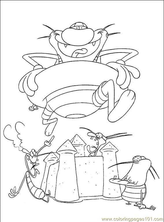 Oggy Cockroaches 106 (3) Coloring Page