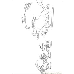 Oggy Cockroaches 106 (6) coloring page