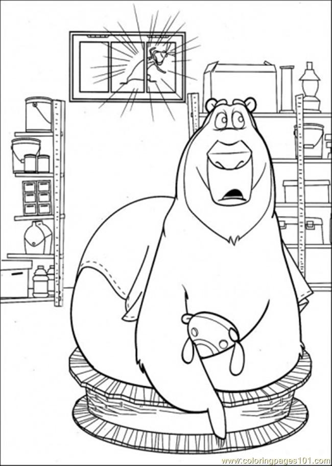 Boog Hears Something Coloring Page