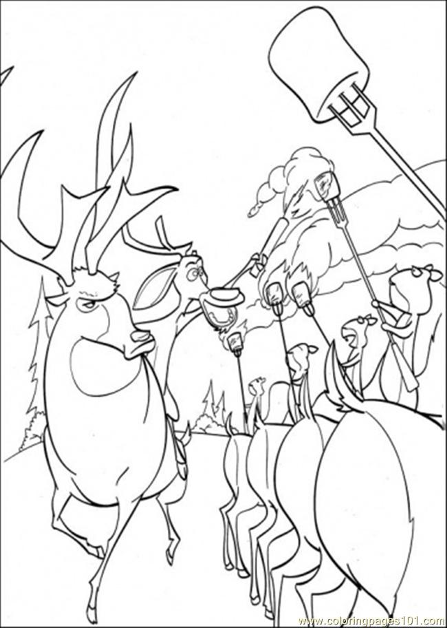 The Animals Make Some Torchs Coloring Page