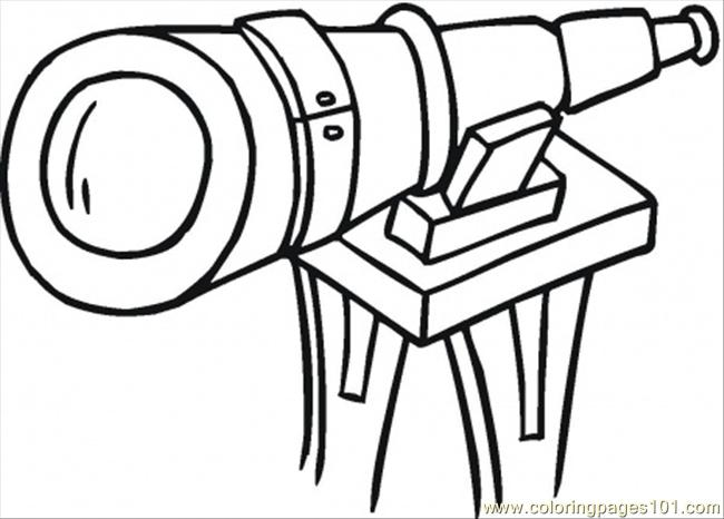 Big Telescope Coloring Page Free Optical Coloring Pages