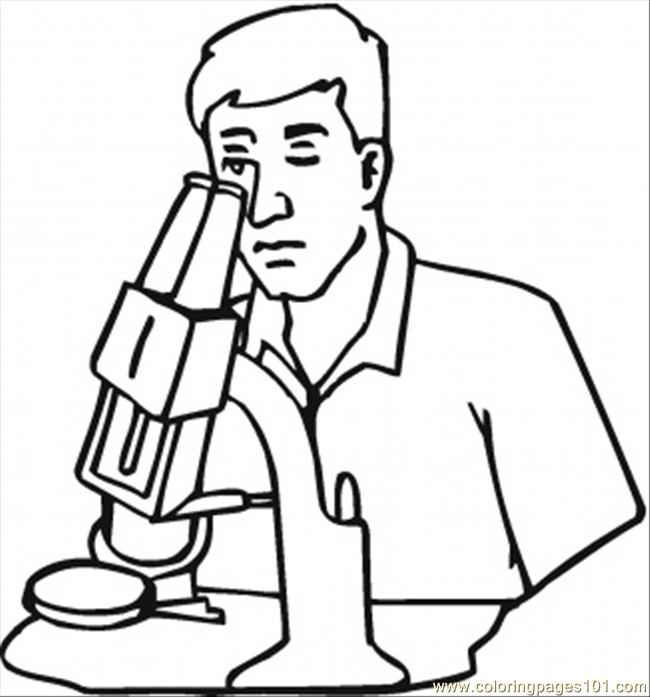 Scientist Is Working Coloring Page - Free Optical Coloring Pages ...