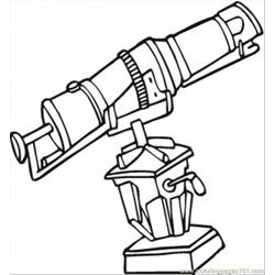 For The Observatory Free Coloring Page for Kids