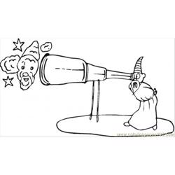 Telescope Free Coloring Page for Kids