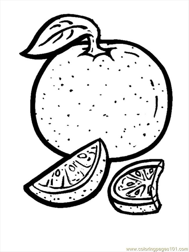 Orange Coloring Page Free Oranges Coloring Pages