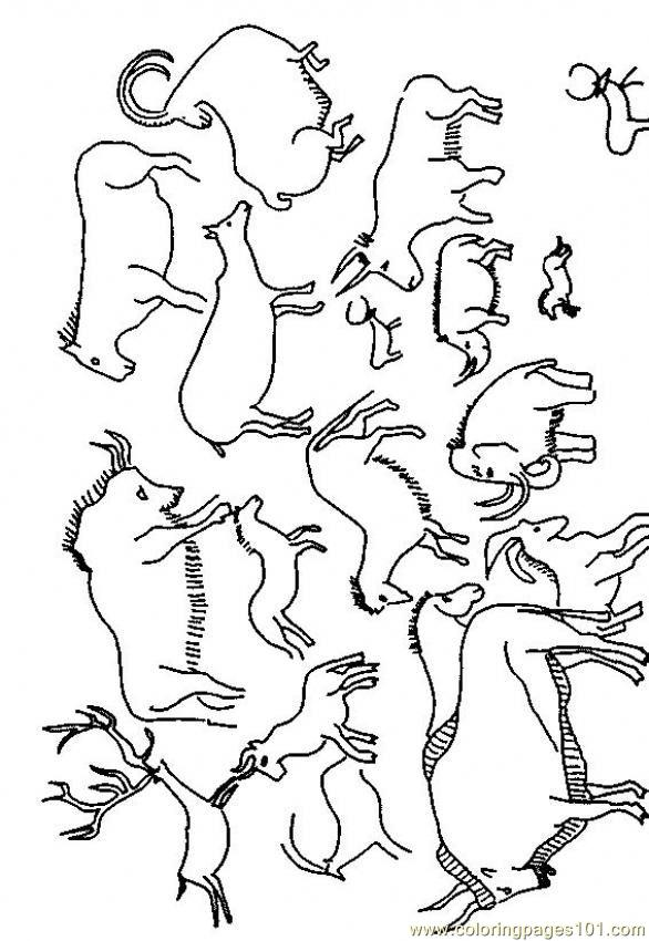 Cave Painting Coloring Page Free Others Coloring Pages