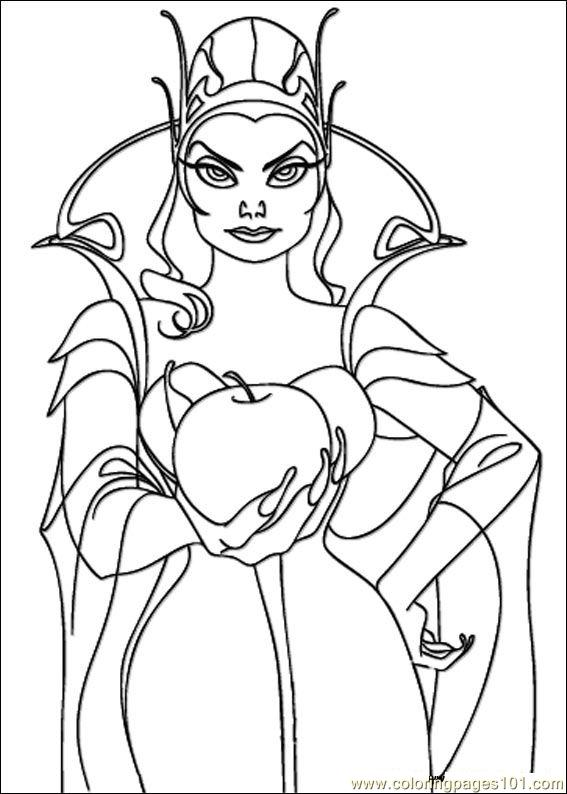 Disney enchanted evil queen coloring pages sketch coloring for Evil queen coloring pages