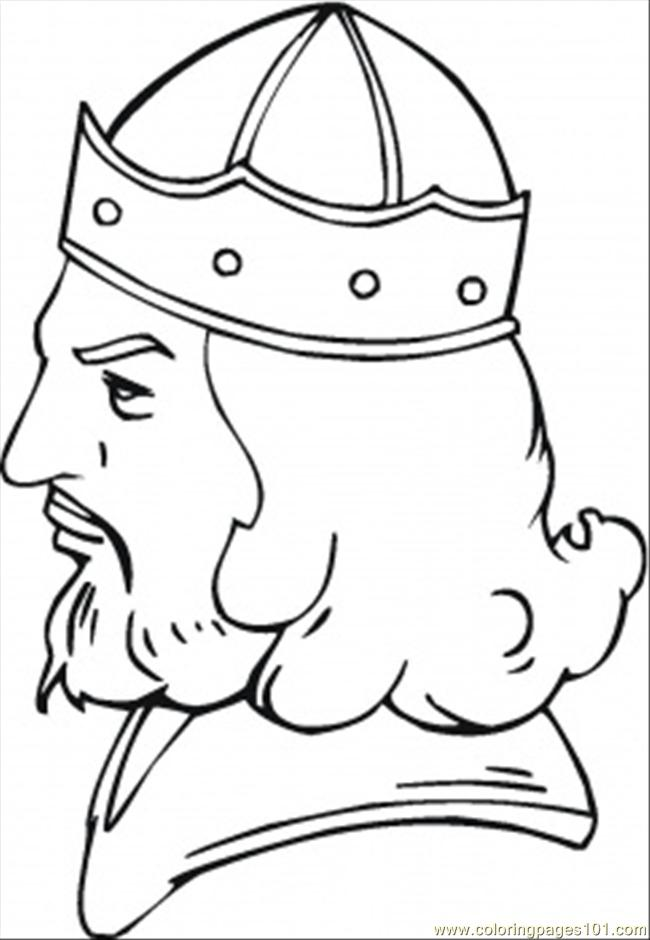 Face Of The Viking Coloring Page