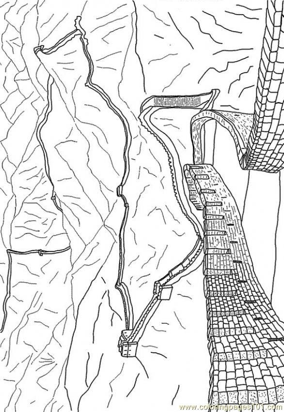 The Great wall of China coloring page for kids | China for kids, Great wall  of china, Coloring pages for kids | 850x586