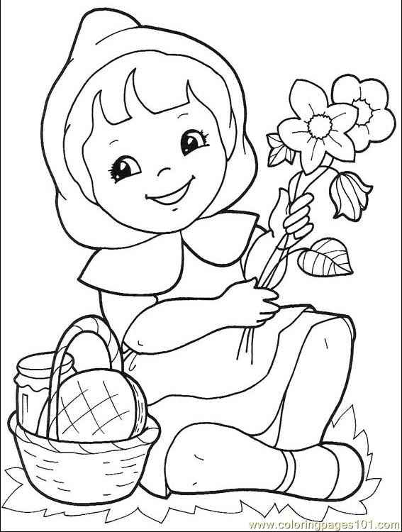 Little Red Riding Hood 001 3 Coloring Page