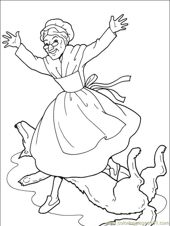 Little Red Riding Hood 001 (7) Coloring Page