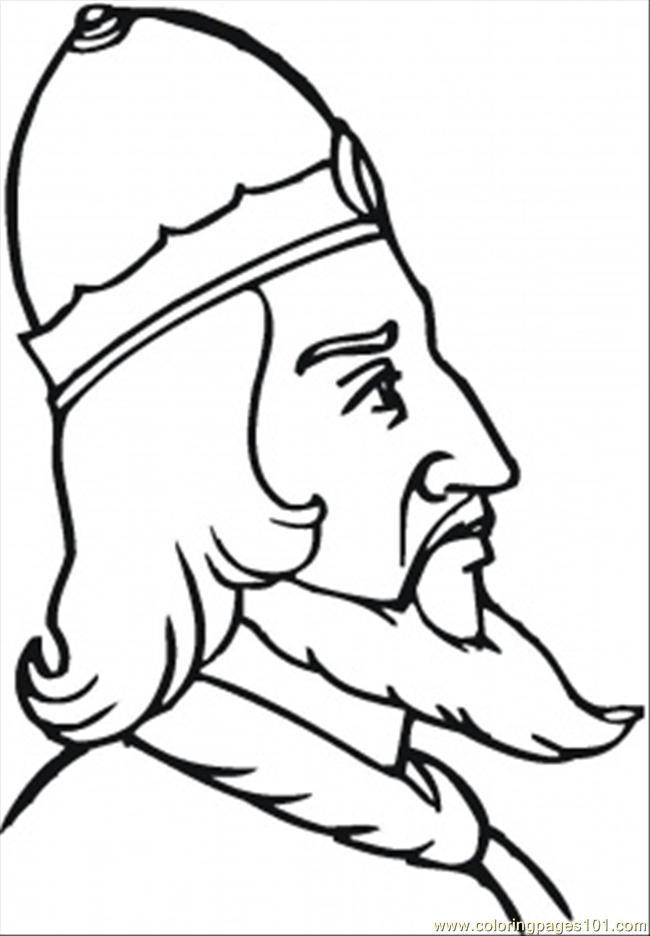 Old Strong Viking Coloring Page