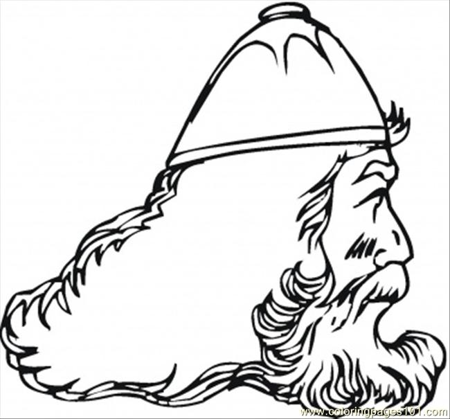 Old Viking Coloring Page