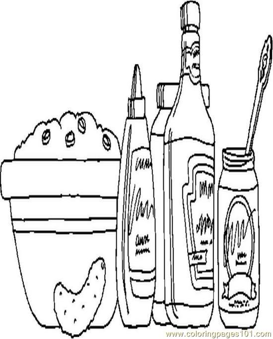 Picnic Food01 Coloring Page Free