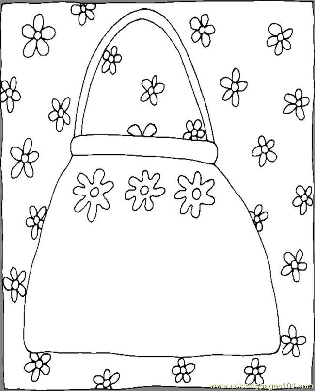 Purse red coloring page