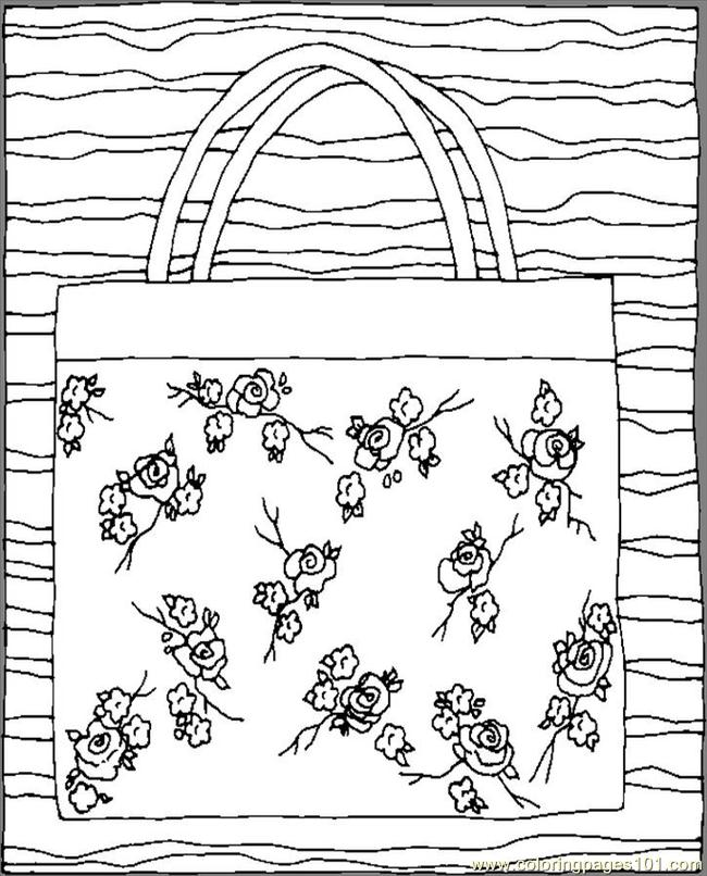 Purse Roses Coloring Page