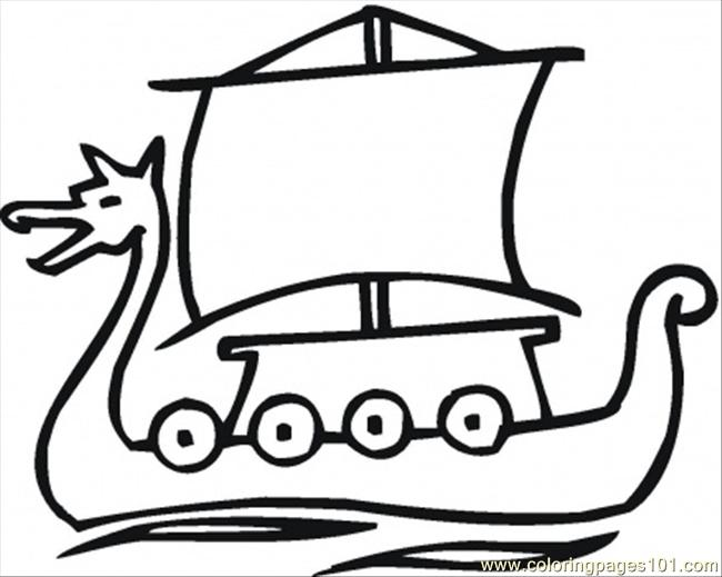 Ship Of The Vikings Coloring Page