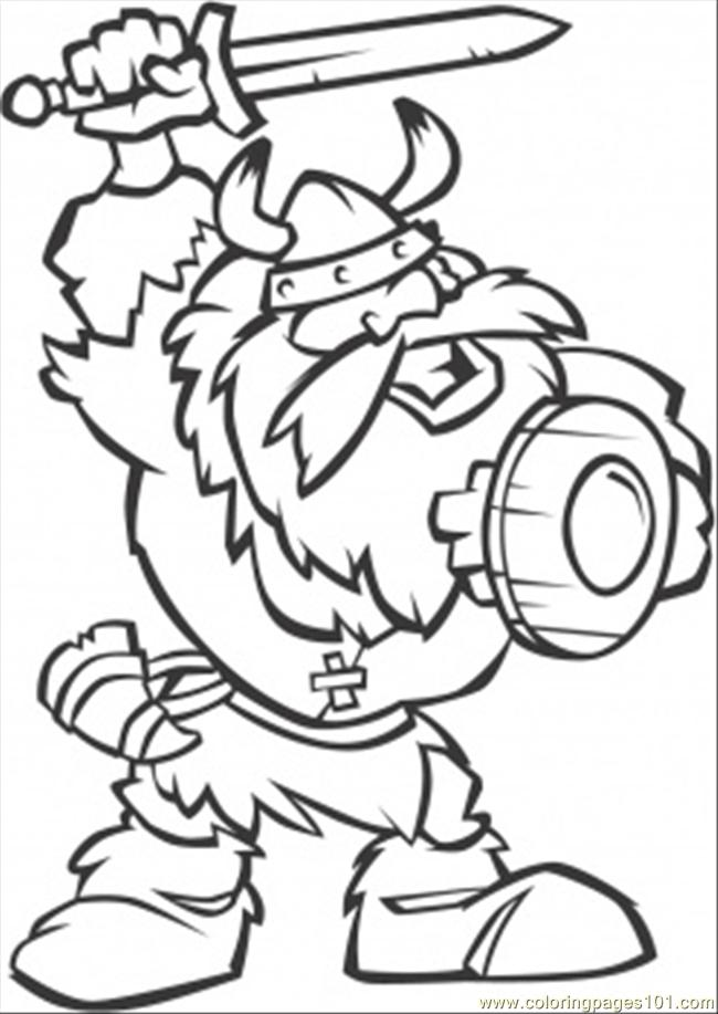 Short Viking With Printable Coloring Page For Kids And Adults
