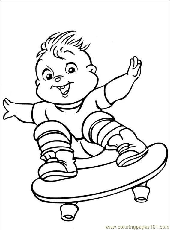 Alvin Chipmunks 001 (5) Coloring Page