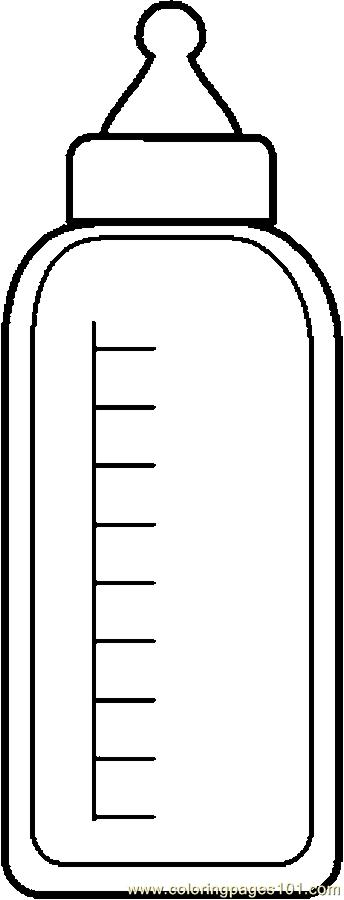 Baby bottle 1 coloring page free others coloring pages for Coloring pages of bottles