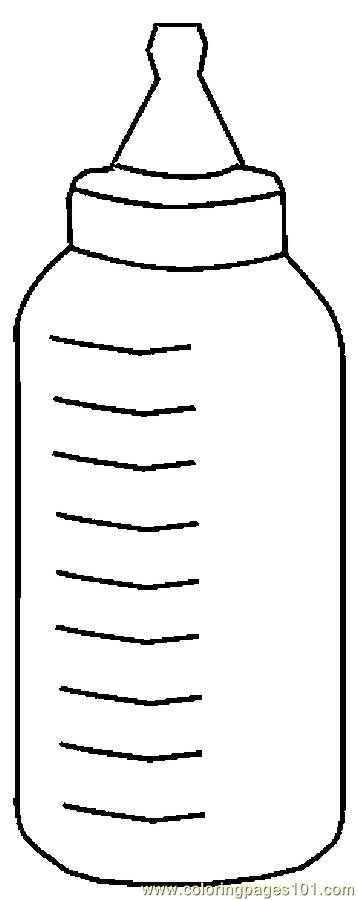 Baby Bottle 6 Coloring Page Free