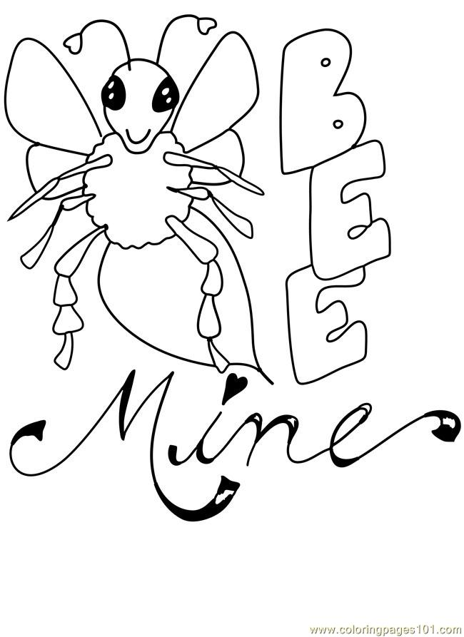 valentine coloring pages be mine - photo #22