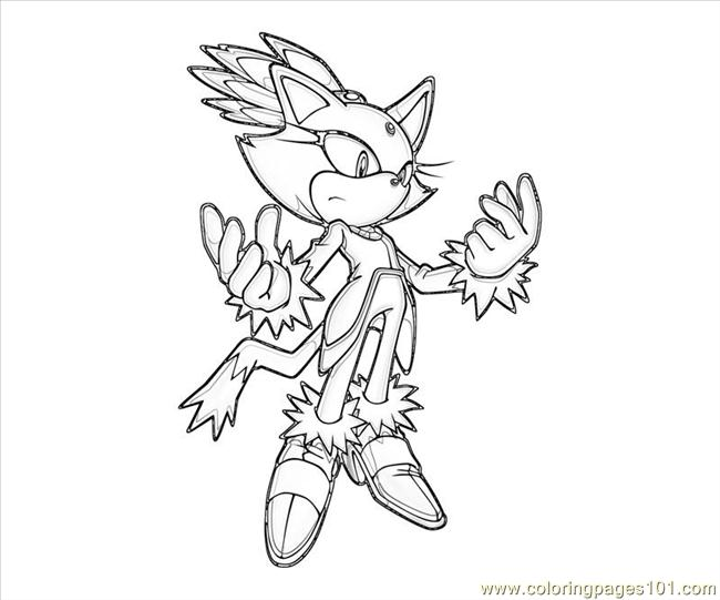 Blaze The Cat Abilities Coloring Page