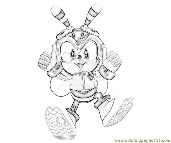 charmy bee coloring pages - photo#3