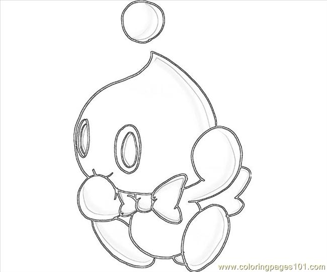 blank chao coloring pages - photo#2