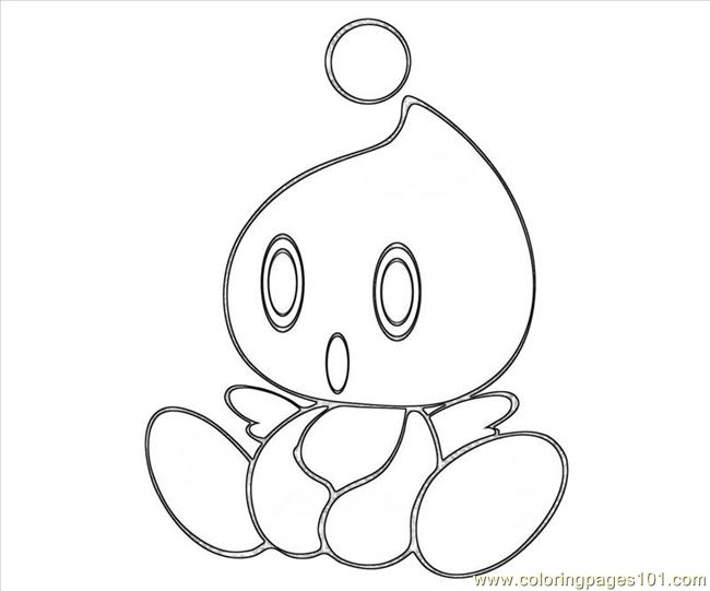 blank chao coloring pages - photo#4